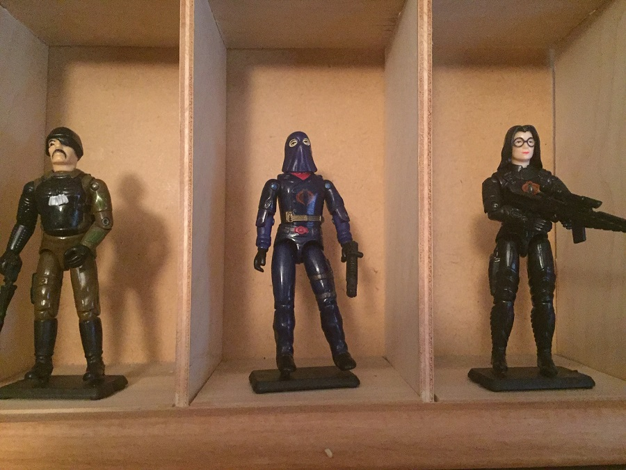 G.I. Joe major bludd (1983), Hooded cobra commander (1984), Baroness (1984) from the when it was cool collection