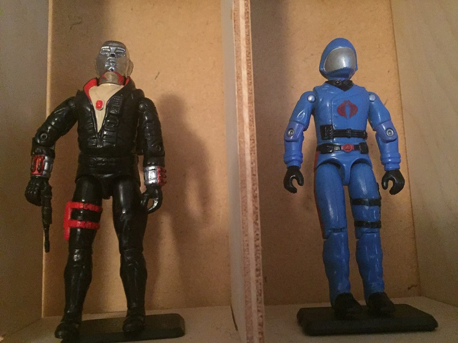 G.I. Joe destro (1983) and Cobra commander (1983) from the when it was cool collection
