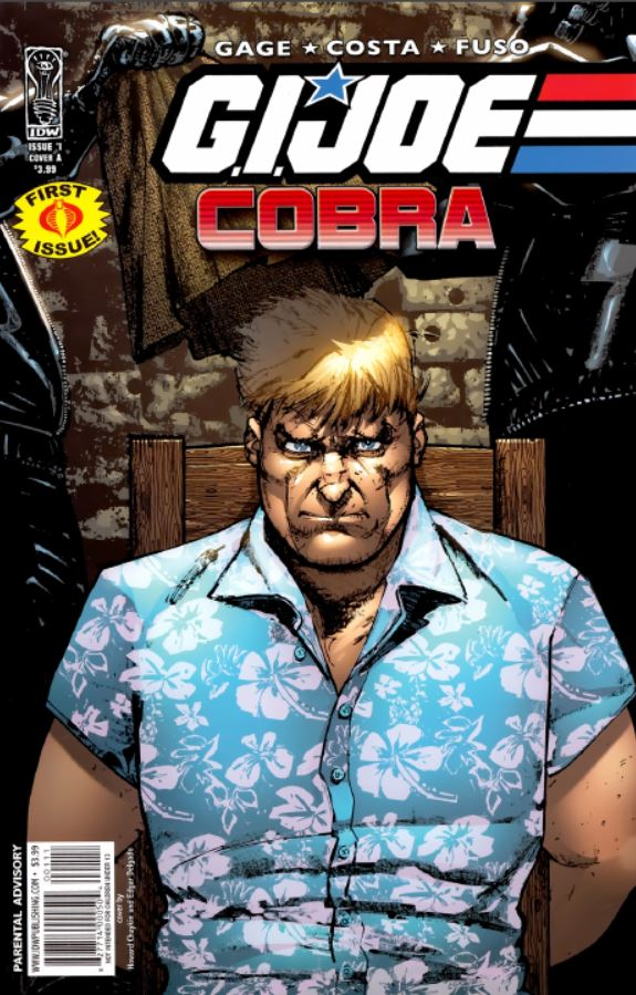 IDW's Cobra series marked the peak of the idw era of the G.I. Joe license. the critically acclaimed series, unfortunately, was never truly followed up on in a critically successful way. Featuring Chuckles on the cover (2009)