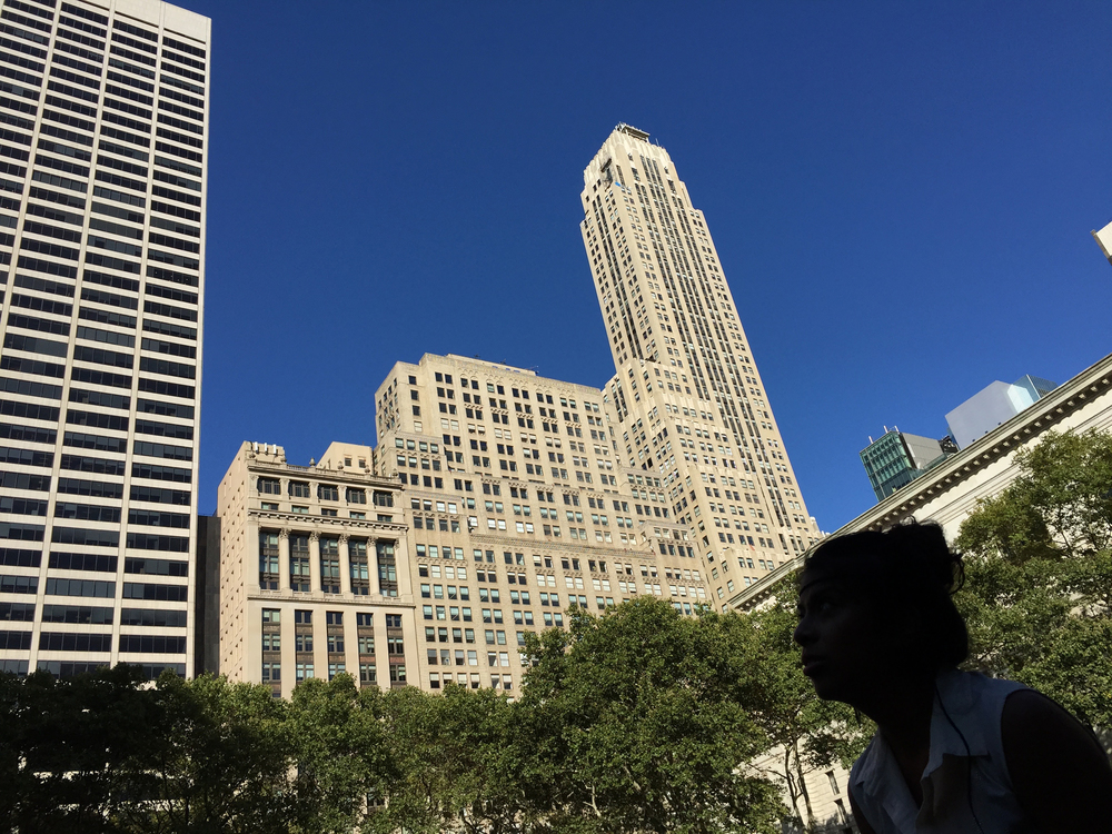 A late afternoon in September in Bryant Park - September 11, 2015