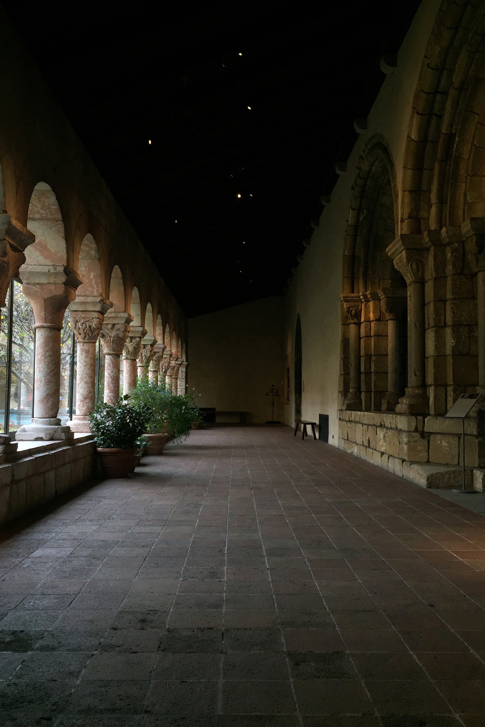 A garden's wing inside the Cloisters - November 6, 2015