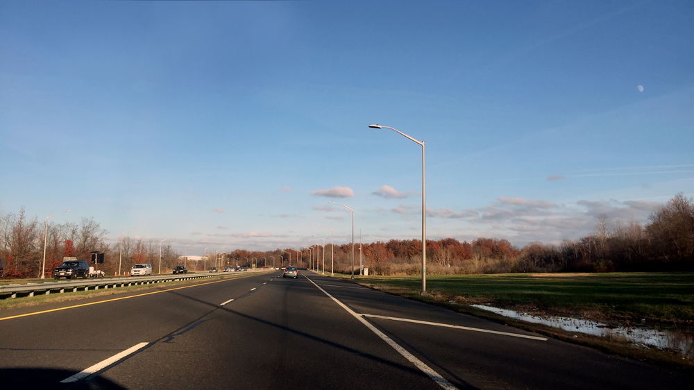 High skies in the late afternoon along Interstate 440 on the northwest shore of Staten Island - November 21, 2015
