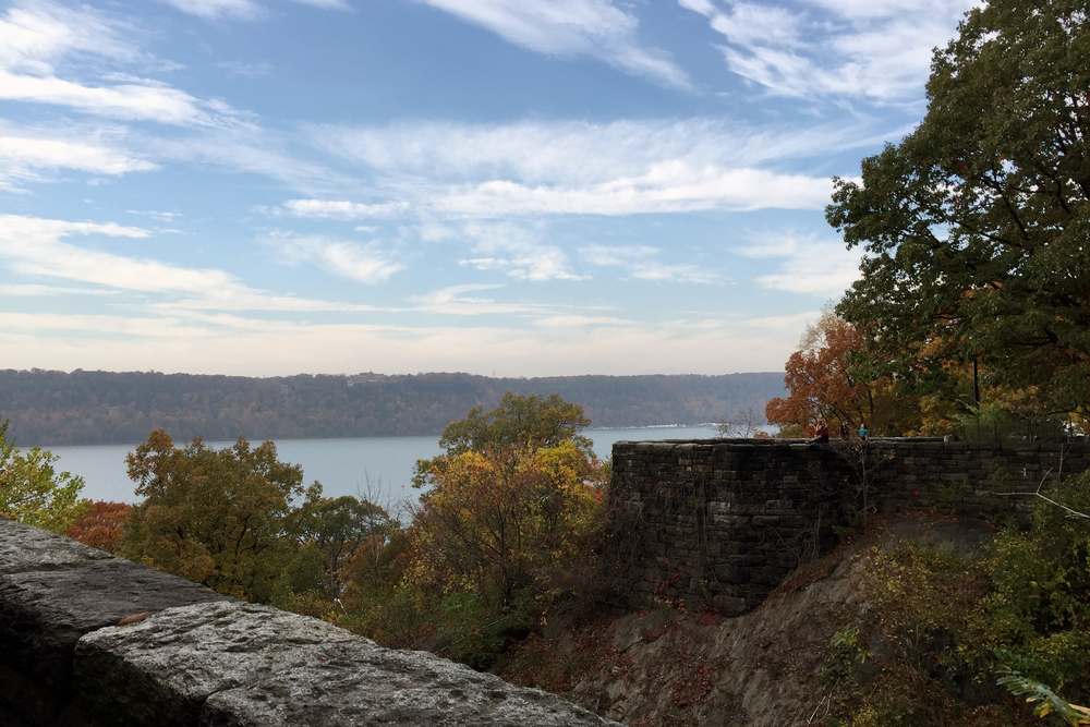 High skies over the Hudson River from Fort Tryon Park - November 6, 2015