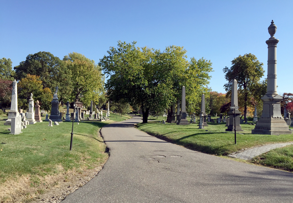 Autumn inside Greenwood Cemetery, Brooklyn - October 20, 2015