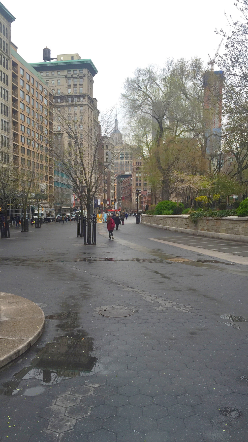 Looking north up Broadway from Union Square West - April 12, 2016