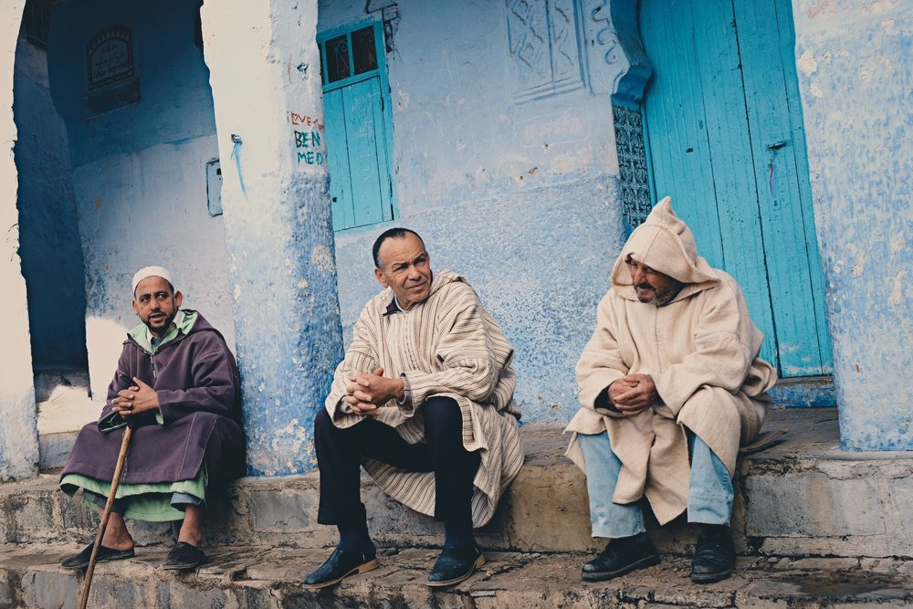 3 wise men, chefchaouen
