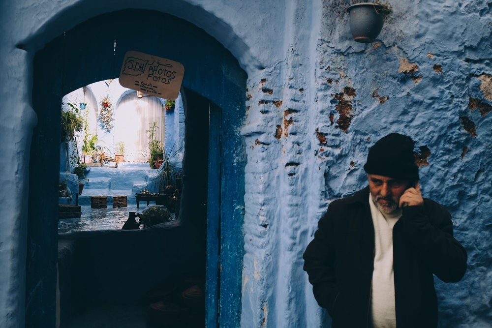 business call,  chefchaouen