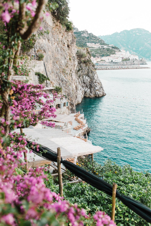 Beautiful, romantic print of Hotel Santa Caterina.