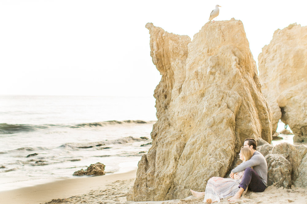 Photojournalistic El Matador Beach Engagement Session-10.jpg