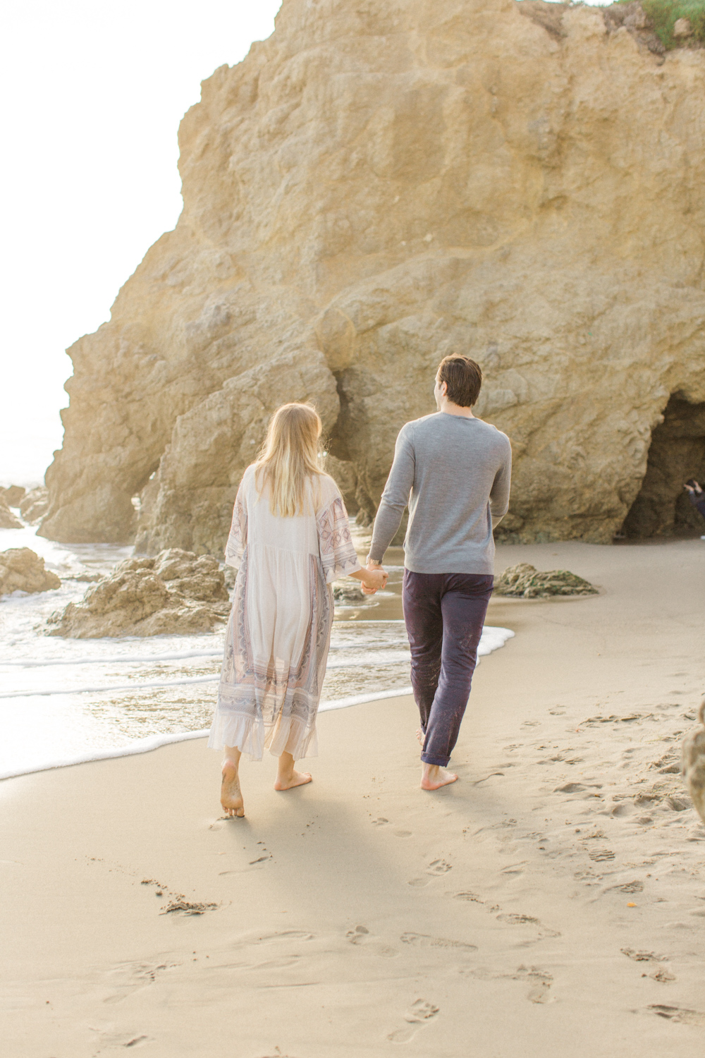 Film engagement session at El Matador Beach in Malibu.