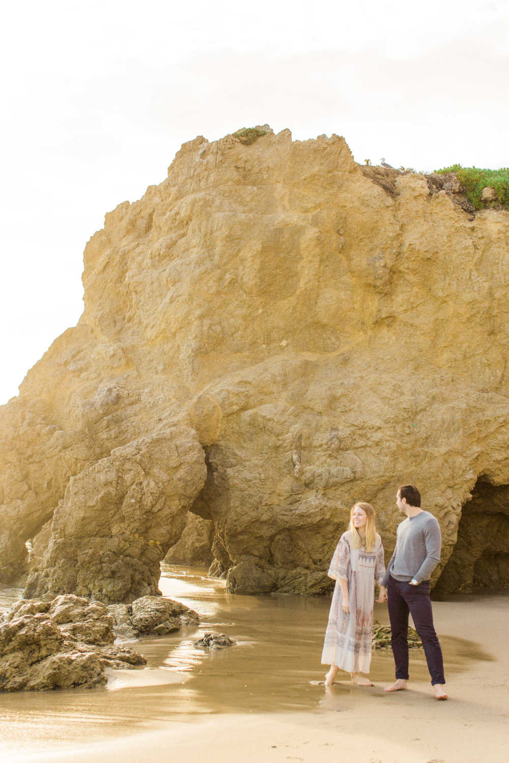 Photojournalistic El Matador Beach Engagement Session-18.jpg