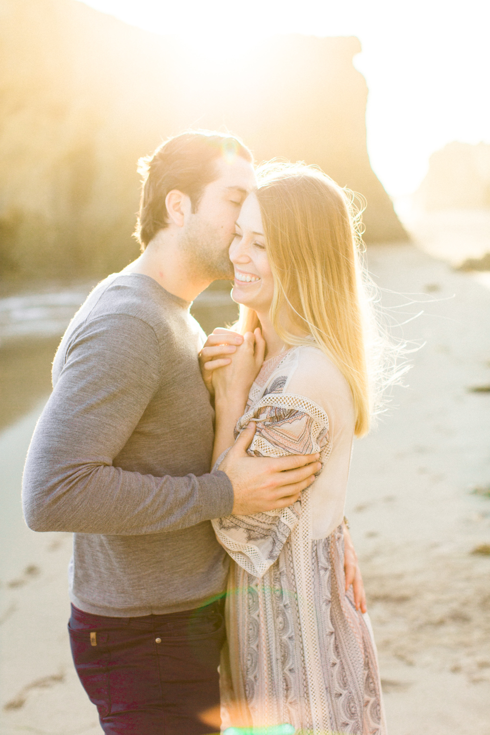 Photojournalistic El Matador Beach Engagement Session-45.jpg