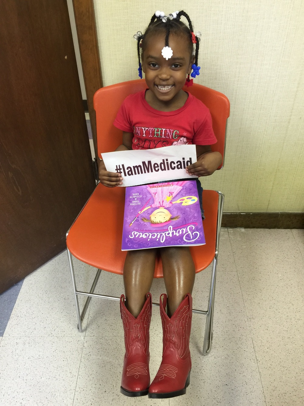 I have asthma. Last week I had an attack I had to use my inhalers and some icky steroid. I'm much better and can smile. Thanks Medicaid! ‪#‎IamMedicaid