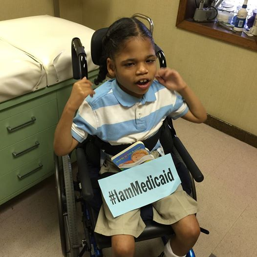 I have septo-optic dysplasia and hydrocephalus. I live with my aunt who cares for me. Medicaid is my insurance-Thanks! #IamMedicaid