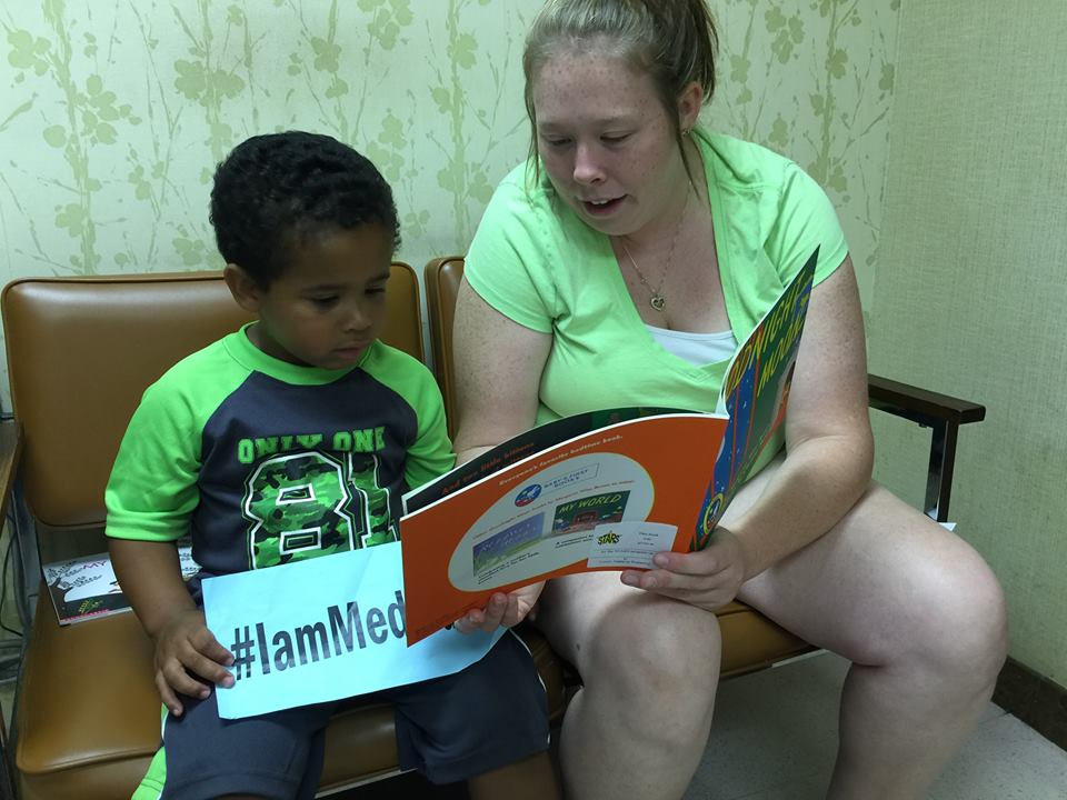 I have asthma-sometimes can't get my breath. Thanks Medicaid for my inhalers. I love to read with my mom when she comes home from work. #IamMedicaid