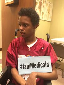I have cerebral palsy. I like to play Kickboxing but need a lot of help with daily activities. Alabama Medicaid is my insurance. Please don't forget me! #IamMedicaid
