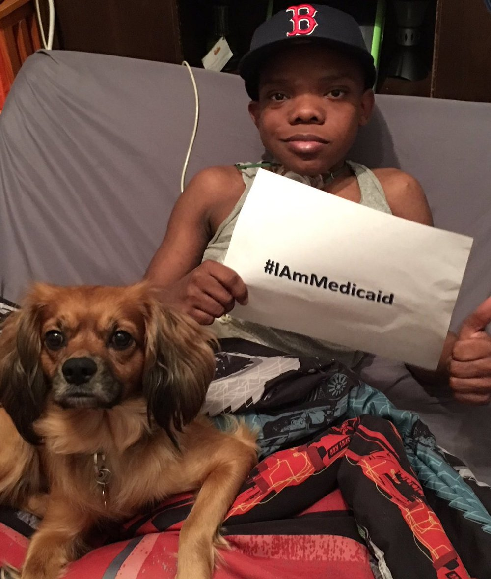 Without Medicaid Dallas wouldn't have a nurse with him during the day so I could work. Medicaid Matters. ‪#‎IAmMedicaid