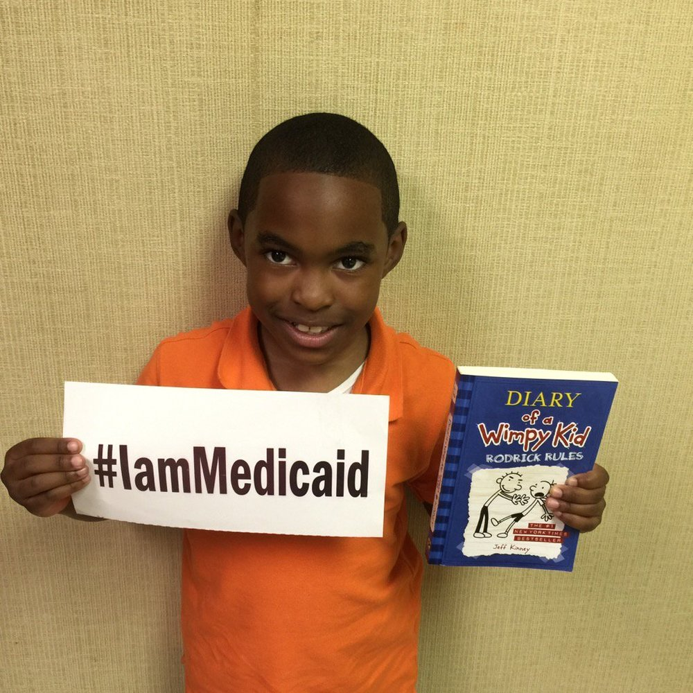 My mom works full time but can't afford insurance for me. I am healthy and I'm immunized. I love to read. #IamMedicaid