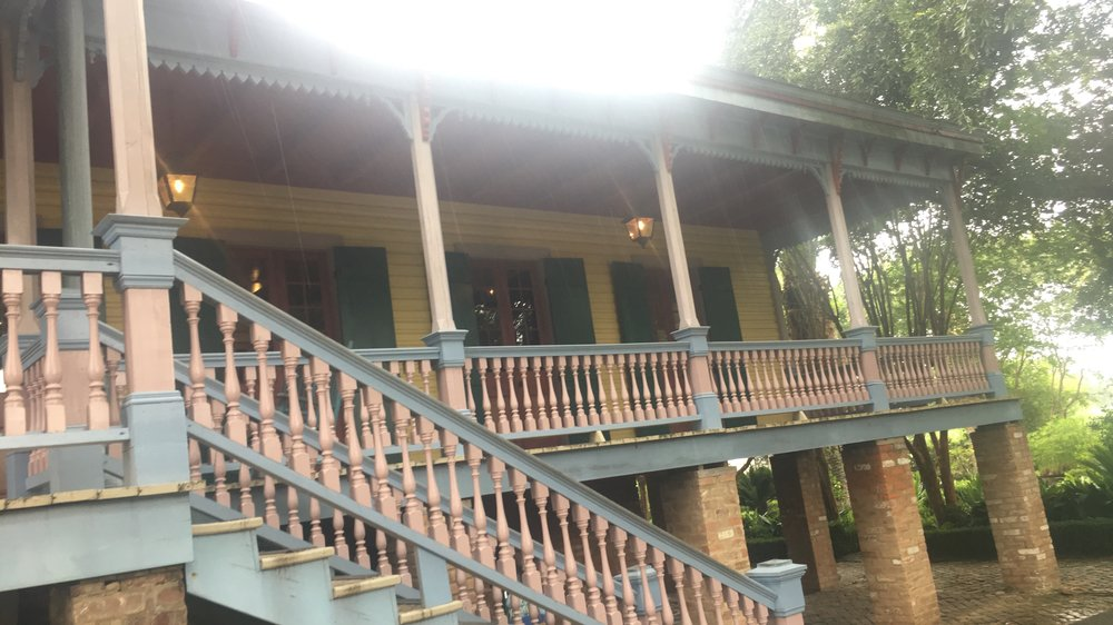 The rain came pouring at this point at the Laura Plantation. Also I feel like the spirits came alive at this plantation. I could feel them a bit more here than Oak Alley Plantation.