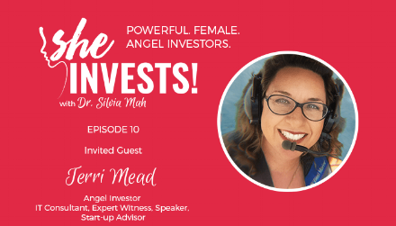 Terri shares how a diverse background in consulting for life science companies was an advantage in Angel Investing. Her business perspectives were valuable in helping early stage startups consider their business strategy. She shares how she advocates for female investors and helps them penetrate the male dominated investment industry.  Listen and find the show notes     here