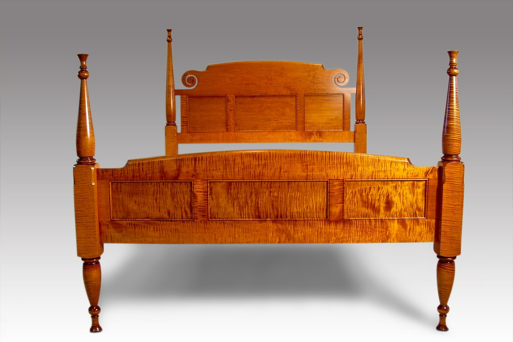 Curly Maple Bed