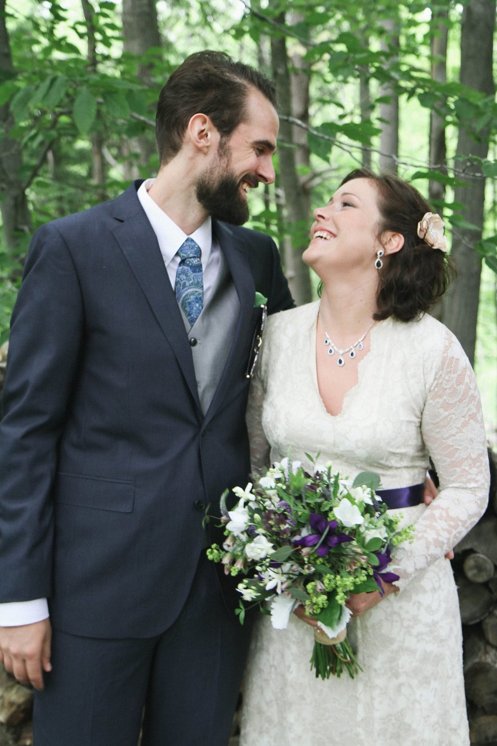 Caberfae, MI Bride and Groom Photos Outside