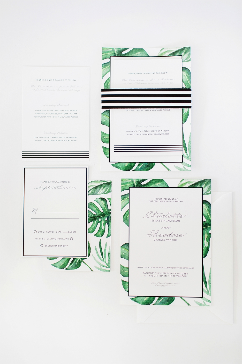 Grand Rapids, MI Summer Wedding Invitations