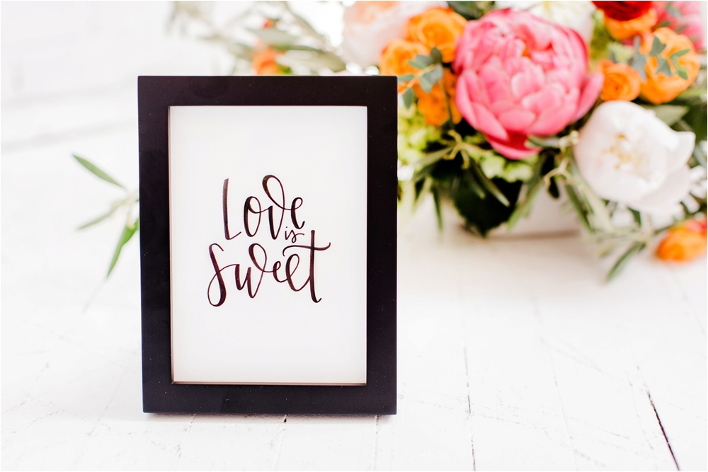 Grand Rapids, MI Wedding Calligraphy Sign Inspiration