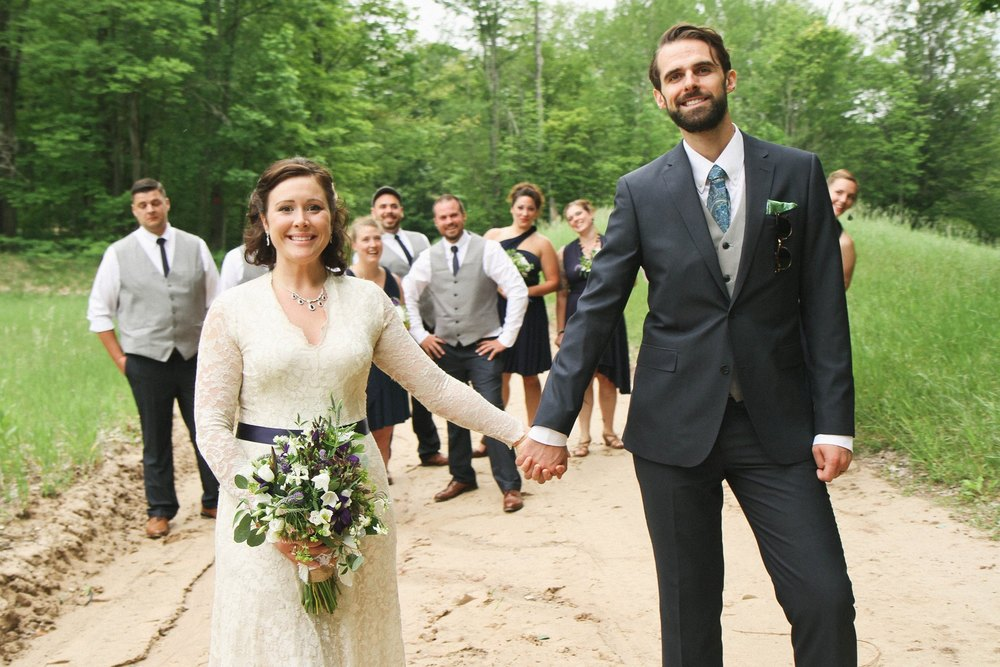 Caberfae, MI Outdoor Wedding Photos