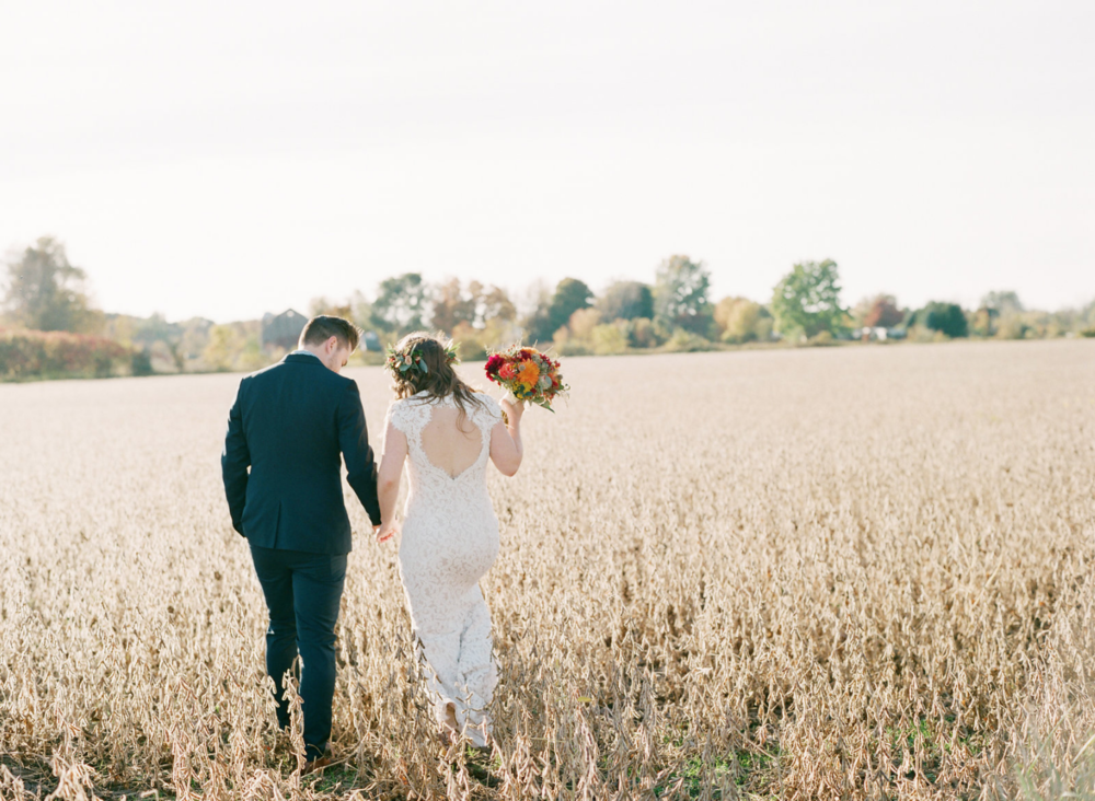 Nunica, MI Beautiful Fall Outdoor Wedding