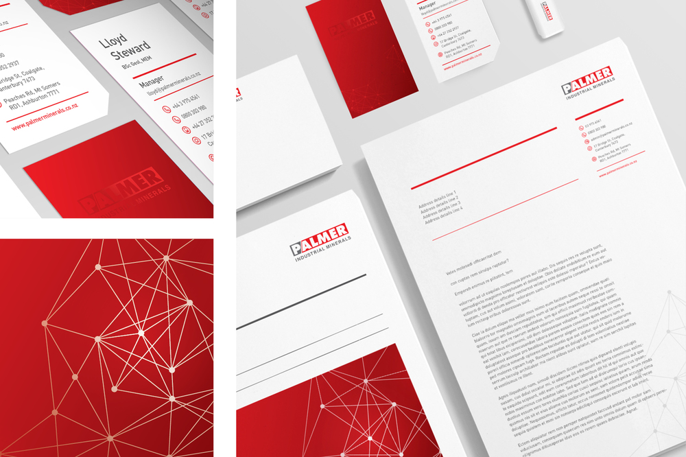 Palmer Resources stationary and brand identity