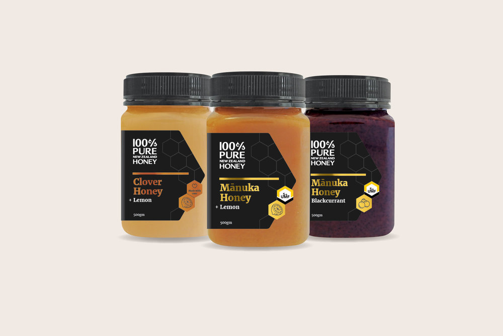Honey jar packaging