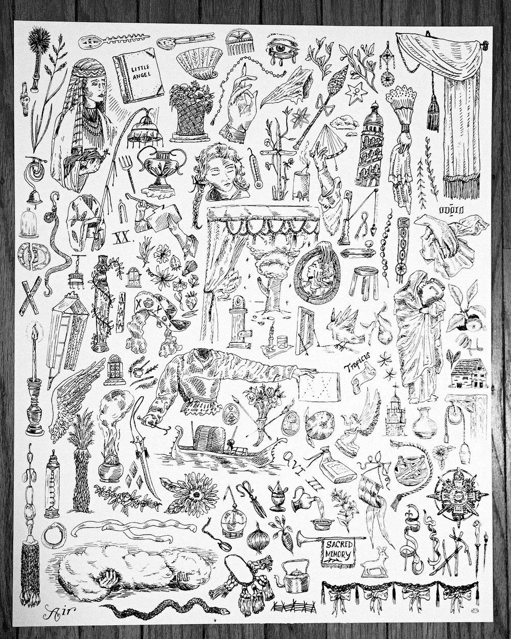 """16""""x20"""" print detail"""