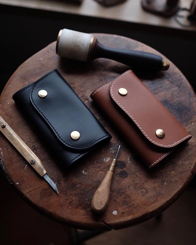 Well, the last two wallets for Christmas are on their way. One black cxl and one Whiskey Buttero James Mid wallet headed down to another great customer.