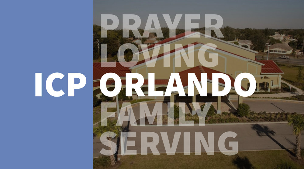 Sunday Service 9am & 11am - Join us every Sunday at 9am & 11am. Coffee is available before 11am service. If you're new, please stop by the Welcome Center to learn more about ICP Orlando and meet some friendly folks.