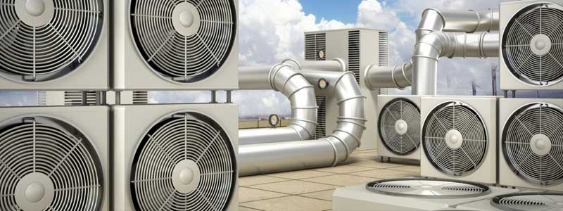 Commercial Air Conditioning Units on Rooftop in Calgary