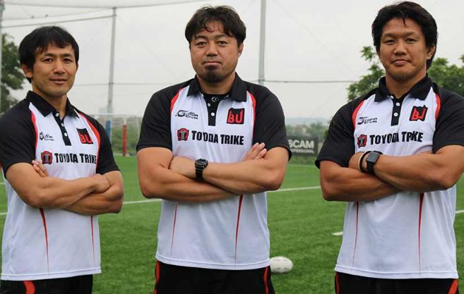 左から元ラグビー日本代表の小野澤氏、箕内氏、菊谷氏