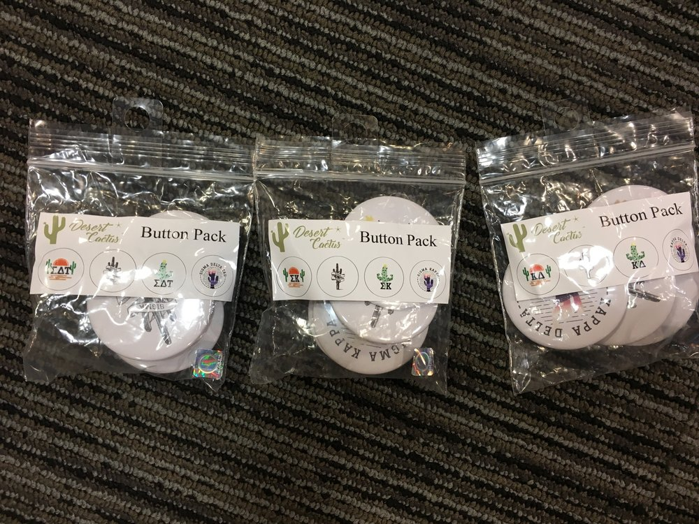 4-pack Buttons - Pack of buttons: $9.99