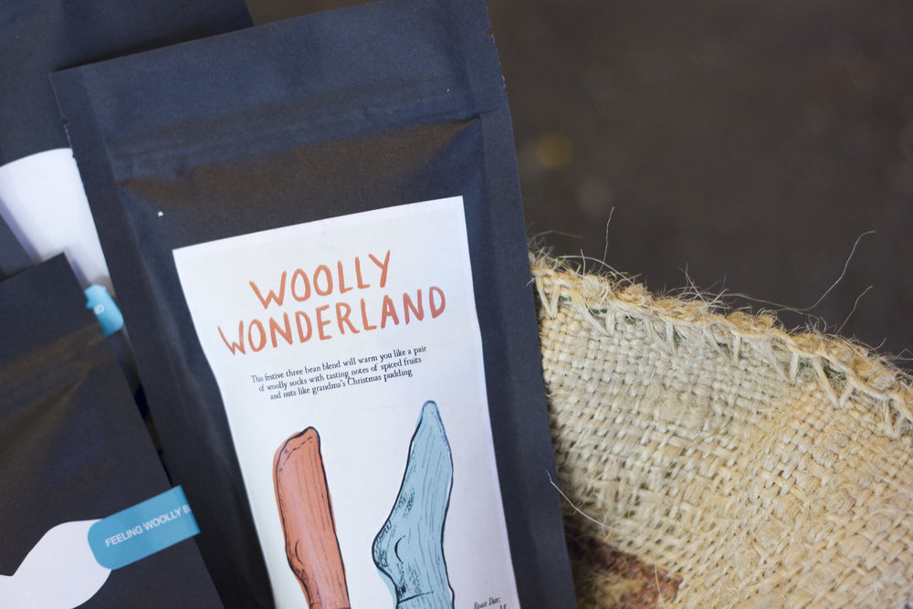 Woolly Wonderland Packaging redesign Buzz Studios 2015.