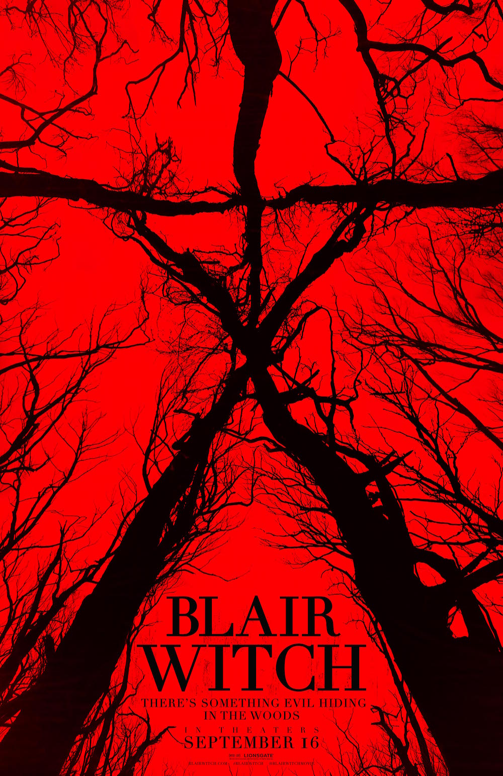 I absolutely love this poster. Every aspect is great: the unsettling red, the towering trees, the confusing and warped perspective.