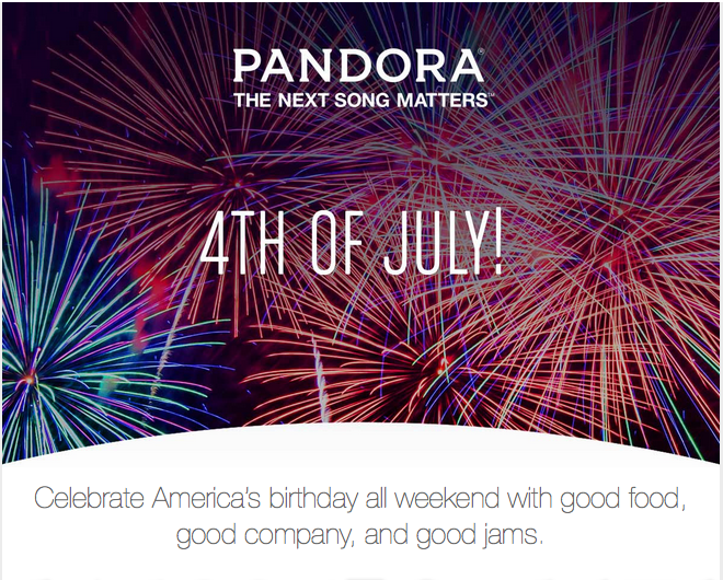 4th of July copy for DRM banner ads