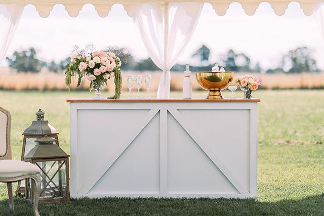 Our Hamptons bar went on a little road trip with @gathervintagehire to a fabulous shoot @stclairecountryhouse - and how perfect did it fit in!! Gorgeous photo by @courtney.laura.photography  featured on @ivorytribe today!! . . . #wedding #weddingstyling #ivorytribe #stclairecountryhouse #styling #frenchcountry #french #provincial #bar #wedding #bubbles #wine