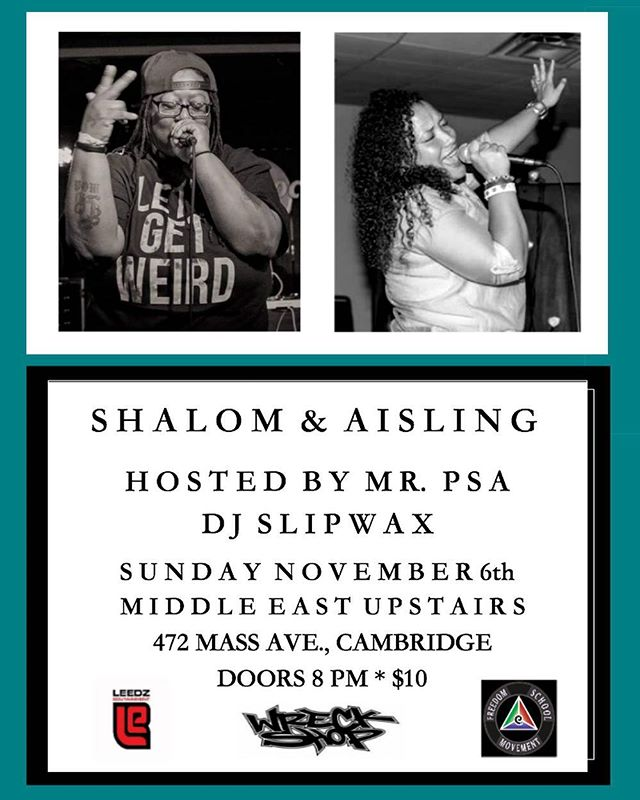 This Sunday 11/6 come party with us at @mideastclub Upstairs. Doors 8pm, tickets $10. #LiveMusic #BostonMusic #Boston #Cambridge #CambridgeMusic #MassMusic #HipHop #HipHopMusic #SoulMusic #Soul #RnB #RnBMusic #rhythmandblues #Music #Concert