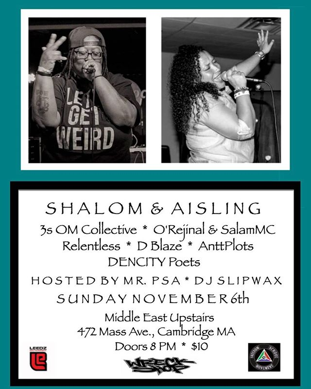 This Sunday 11/6 at @mideastclub Upstairs. So much awesome talent. We're coming together to connect, share, inspire. Can't wait!!! LIVE MUSIC * CONNECTION * FREEDOM * HEALING #Music #LiveMusic #BostonMusic #CambridgeMusic #Boston #Cambridge #Massachusetts #MassMusic #HipHopMusic #HipHop #SoulMusic #Soul #Poetry #SpokenWord #RnBMusic #RnB #RhythmandBlues #FreedomMusic #freedom #revolution #healing