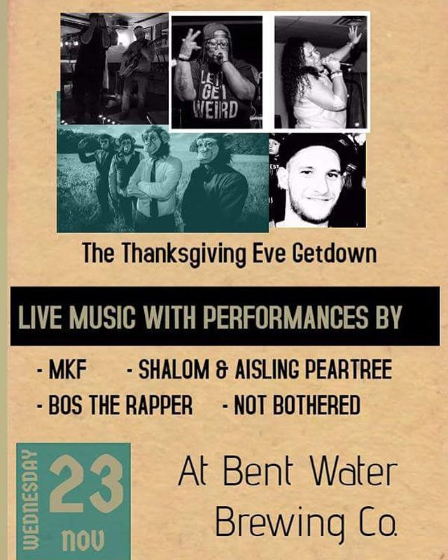 Next Wednesday 11/23 we're at Bent Water Brewing Co. in Lynn MA #LiveMusic #Music #Lynn #Boston #Mass #MassMusic #HipHop #Soul #Freedom #FreedomMusic