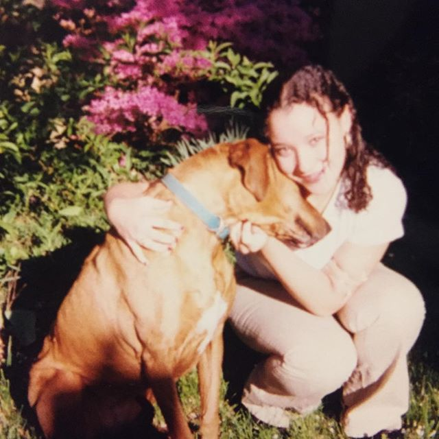 Me and my dog- high school days- miss her so much 💜