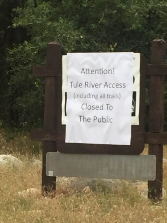 Local organization responds to closed river access: - Staff, board, and volunteers of WildPlaces offer sincere condolences to the families and friends of the drowning victims on the Tule and Kern Rivers during recent high waters. In addition to the loss of human lives, these accidents have tarnished the reputation of the rivers as places of respite and relaxation. Enforcement and management agencies will close many if not all sites including trails in an effort to