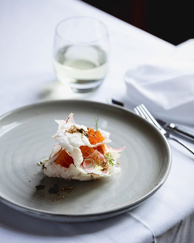 One from summer @islingtonhotel. #tasmania #foodphotography #naturallight #salmon