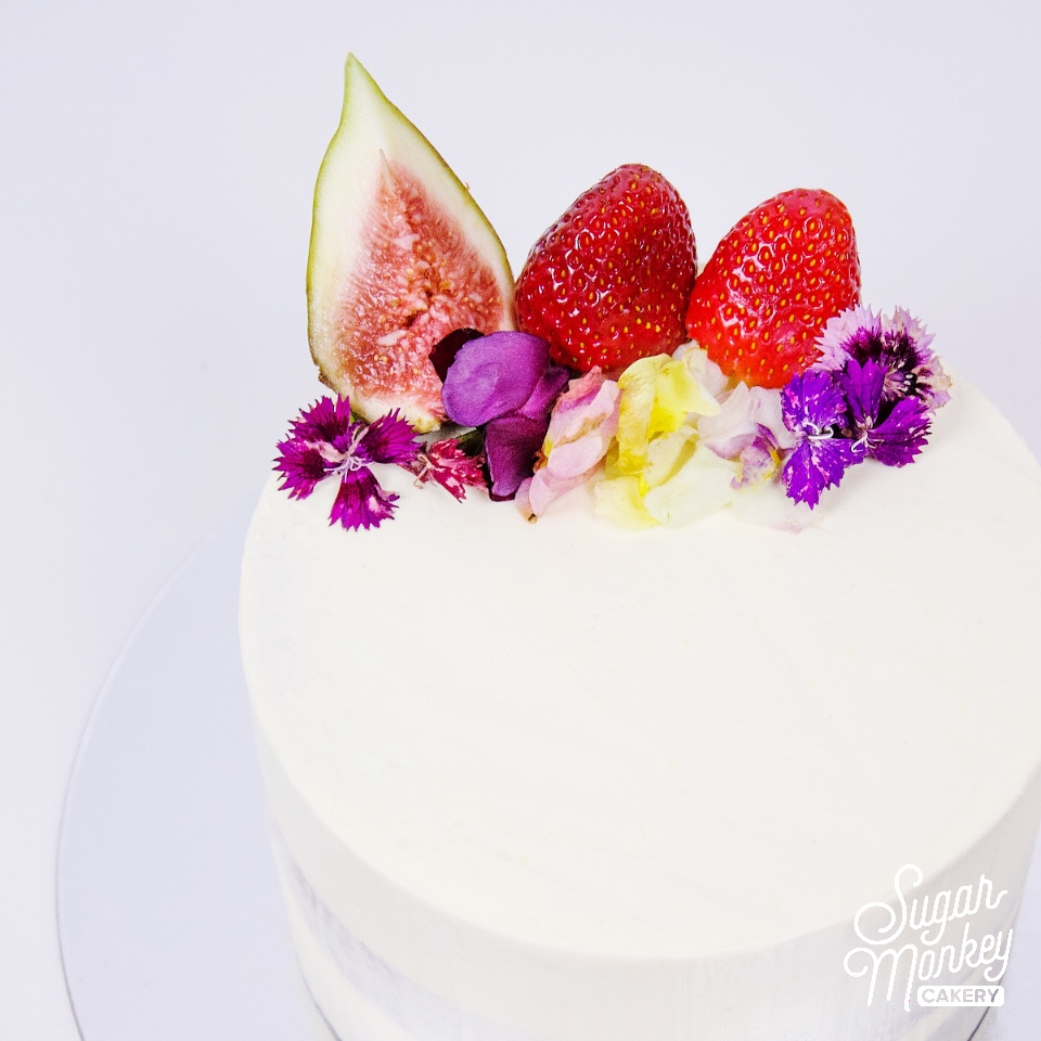 Red Velvet cake filled with cream cheese buttercream