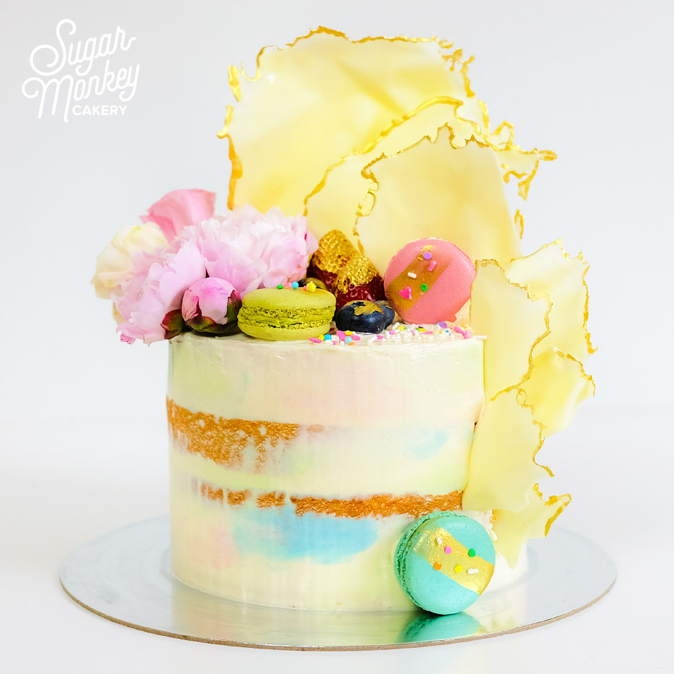 Semi naked birthday cake for a 30th